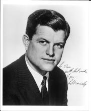 1960s signed photograph of Senator Ted Kennedy