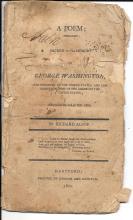 [Washington] Rare 1800 Poem Sacred to the Memory of George Washington by Richard Alsop