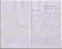 [Civil War] 1861 Letter from Joseph Eaton, 1st Maine Calvary, POW