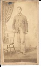 [Civil War] Unidentified young Union Soldier, tax stamp