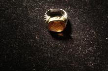 David Yurman Ring, Citrine set in Sterling Silver