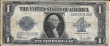 Large size 1923 $1.00 Silver Certificate mid grade condition