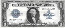 Large Size 1923 $1.00 Silver Certificate CU condition