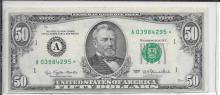 Currency $50.00 1977 Star Note FR 2119A