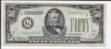 Currency $50.00 1934 A Chicago FR2103G
