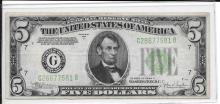 Currency $5.00 1934 C Chicago FR1959G