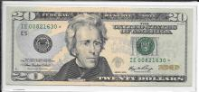 Currency $20.00 2006 Star Note