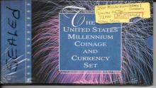 Unopened Millennium Coin and Currency Set 1999