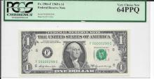 Low 3 Digit (299) Serial Number PCGS 64PPQ $1.00