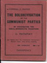 1930s Communist organizer pamphlet, Piatnitsky