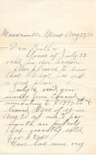 1908 letter gold mining in the West