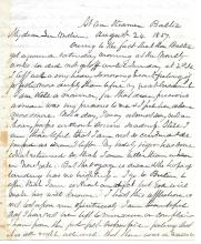 Letter written from the SS Baltic, the fastest steamer of its time, 1850s