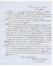 1856 pro-Temperance letter, Bleeding Kansas