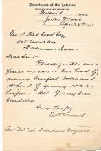 1901 US Indian Service letter