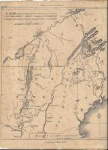 1807 The Life of George Washingtonmap, March on Quebec.