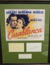 [Entertainment] Humphrey Bogart Casablanca Framed Autographs