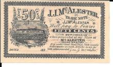 J.J. McAlester Indian Territory Scrip Rare