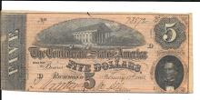 Lot of 3 CU Confederate Richmond  Notes, $5, $10, $20