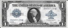 Large size 1923 $1.00 Silver Certificate high grade condition