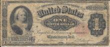 1891 $1.00 Silver Certificate Martha Washington