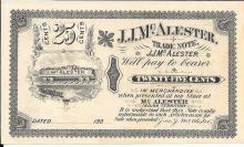 J.J. McAlester 25 Cent Scrip