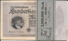 1923 $2,000,000 German marks, original band wrapper
