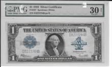 1923 One Dollar Silver Certificate Graded VF 30