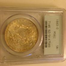 1883 O Morgan Dollar PCGS MS62