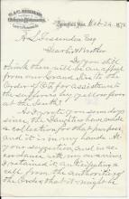 1878 letter soliciting funds for Yellow Fever victims