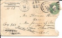 Pair of 1874 letters regarding Panama and Yosemite travel