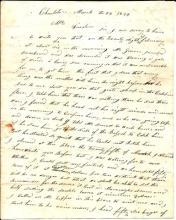 James Alexander ALS, Somber 1834 letter on suicide,