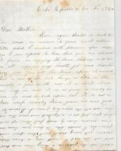 [Historical] Cuba letter