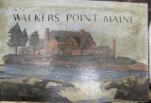 [Presidents] George Bush Compound Walker's Point 1910s Folk Art Painting