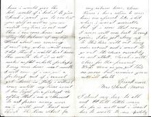 [Civil War] Letter from prison Camp Douglas from AWOL Union Soldier