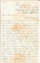 [Lincoln Assassination] April 16, 1865 Brevet Major Hodgkins
