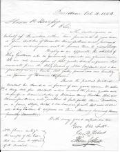 [Presidents] Pair of 1840 letters of Support for William Henry Harrison