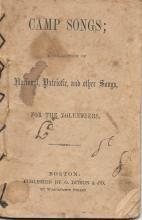 [Civil War] 1861 Volunteer Camp Songs