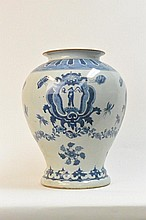 Chinese Qing Kang Xi Mark-blue & white  vase