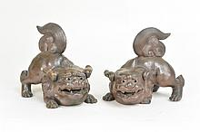 18th Century - Pair of Foo Dogs