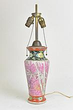 Pink 1920's-30's Japanese Art Deco Lamp