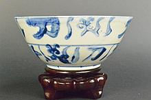 Chinese Qing Period style Blue and White Bowl