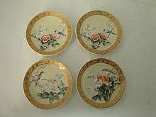 Four Pieces Small Porcelain Plates