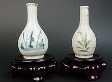 Chinese Qing Period - pair of wine bottles