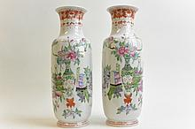 Chinese Qing Period - Pair of vases