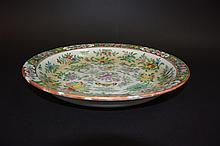 Chinese famille rose butterfly plate