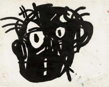 JEAN-MICHEL BASQUIAT - Untitled Head, 1982