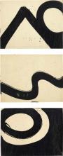 AL HELD - Three works: (i) 60-222; (ii) 60-37; (iii) 60-42, circa 1960-1969