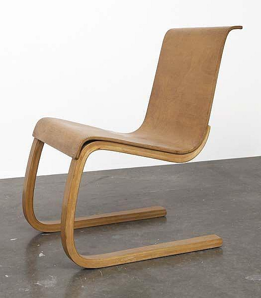 ALVAR AALTO Cantilevered side chair, model no. 21,