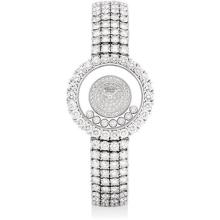 CHOPARD - A lady's fine and rare white gold and diamond-set bracelet watch, Circa 2010