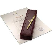 PATEK PHILIPPE - A fine and possibly unique yellow gold ballpoint pen with Attestation and fitted presentation box, Circa 2008